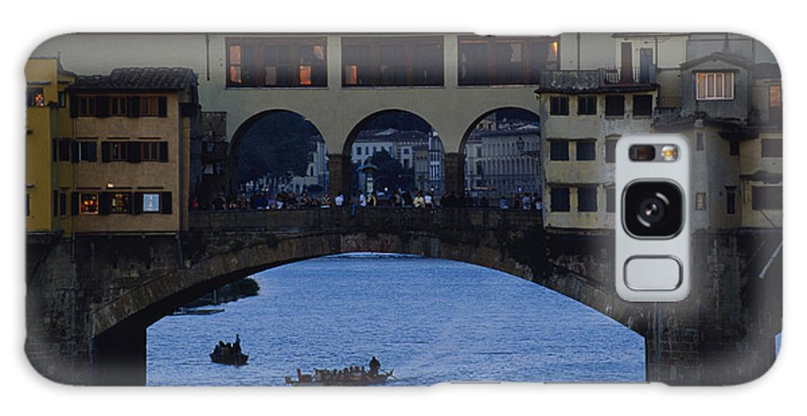 Europe Galaxy S8 Case featuring the photograph The Ponte Vecchio At Dusk by O. Louis Mazzatenta