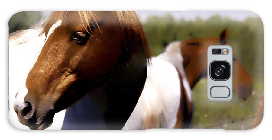 Horse Galaxy S8 Case featuring the digital art The Prairie Horses by Diane Dugas