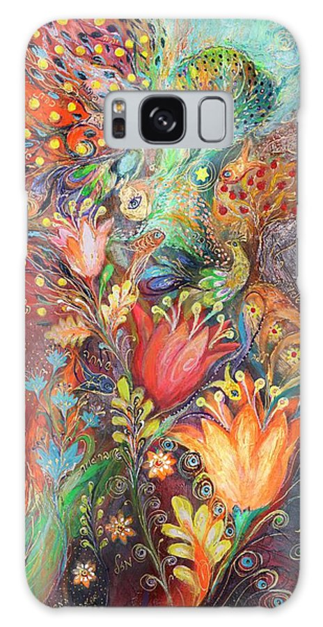 Judaica Galaxy S8 Case featuring the painting The Princesses Of Garden by Elena Kotliarker