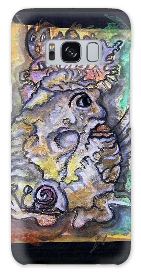 Royal Galaxy S8 Case featuring the painting The Royal Potato Kcritter by Mimulux patricia No