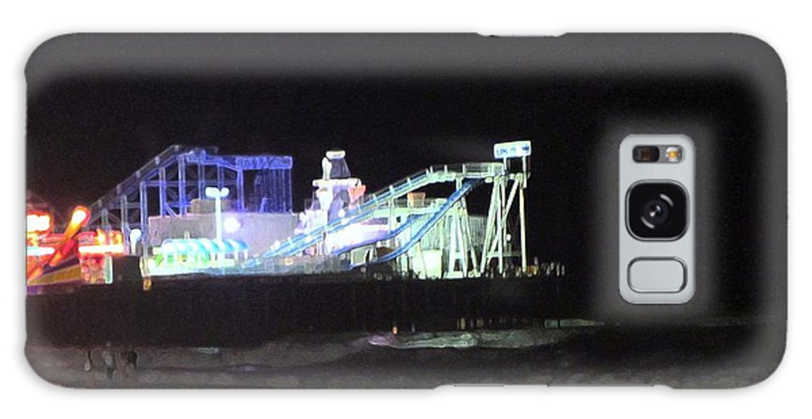 Sea Galaxy S8 Case featuring the photograph The Seaside At Night by Susan Carella