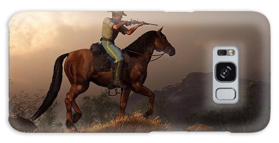 Cavalry Galaxy S8 Case featuring the digital art The Sharpshooter by Daniel Eskridge
