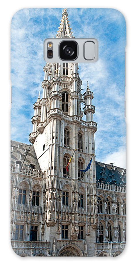 Municipality Galaxy S8 Case featuring the photograph the Spire of Brussels by Jim Chamberlain