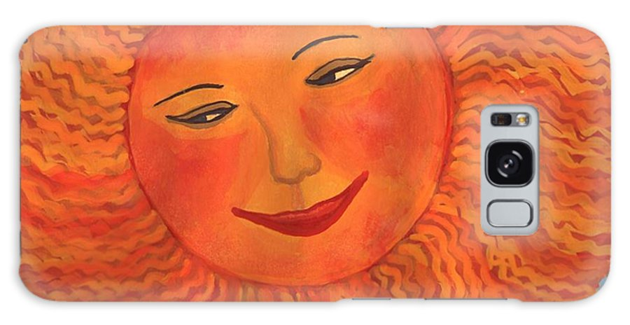 Sun Galaxy S8 Case featuring the painting The Sun God Detail Of Red Sky At Night by Sushila Burgess