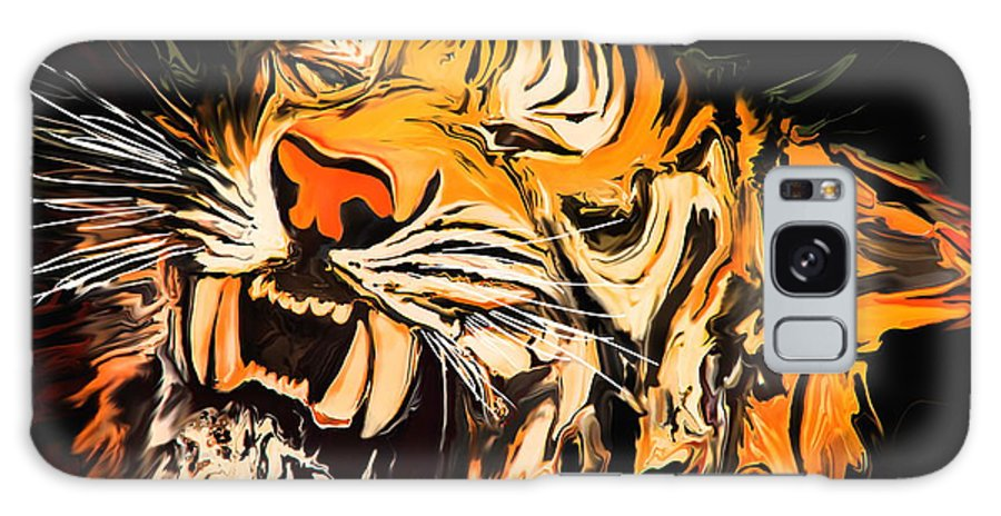 Animal Galaxy S8 Case featuring the painting The Tiger by Rabi Khan