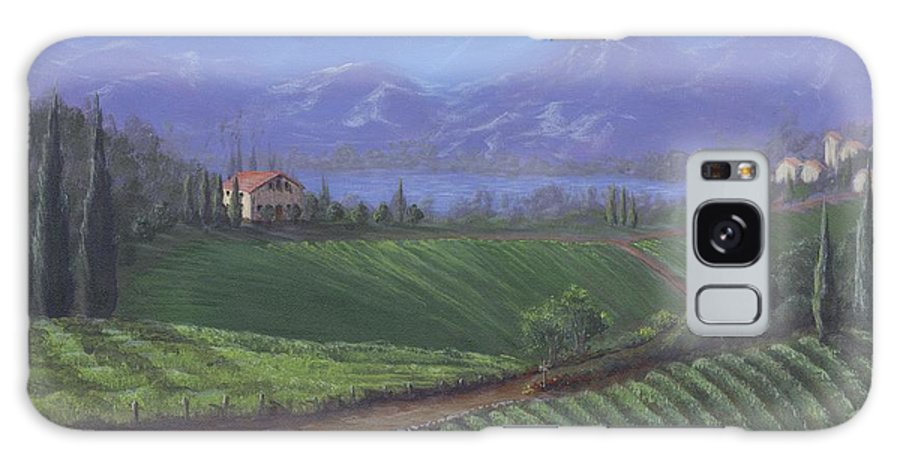 Landscape Galaxy S8 Case featuring the painting The Tuscanesque Valley by Kent Nicklin
