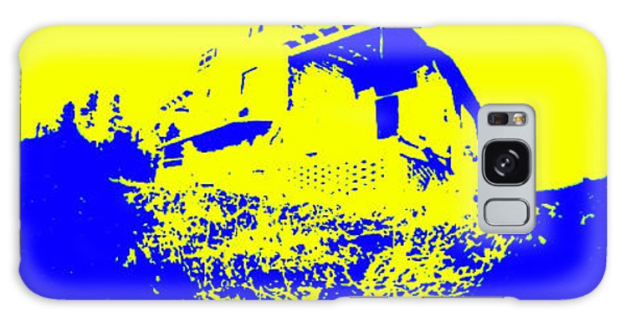 Yellow Galaxy S8 Case featuring the mixed media This Old House by Peggy Starks