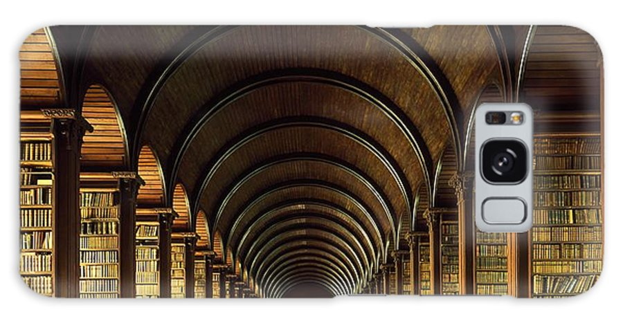 Books Galaxy S8 Case featuring the photograph Thomas Burgh Library, Trinity College by The Irish Image Collection