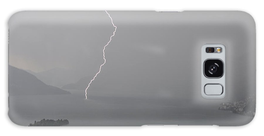 Lightning Galaxy S8 Case featuring the photograph Thunderbolt And Island by Mats Silvan