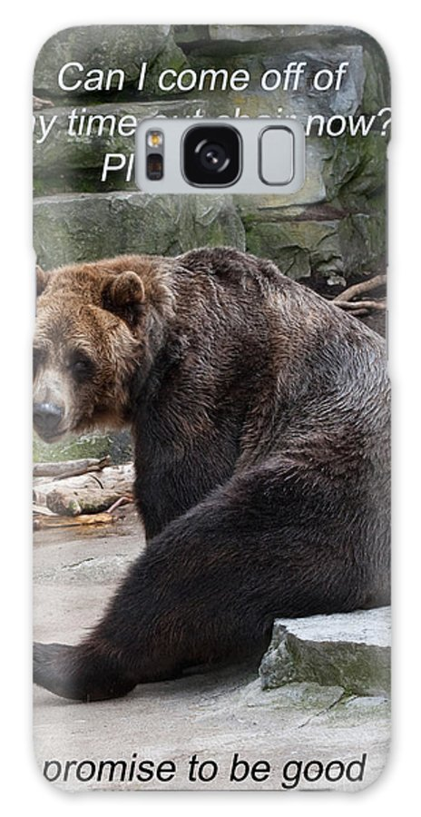 Time Out Galaxy S8 Case featuring the photograph Time Out Bear by Cindy Haggerty