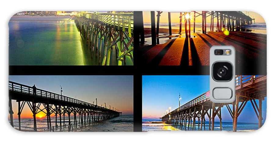 Topsail Galaxy S8 Case featuring the photograph Topsail Piers At Sunrise by Betsy Knapp