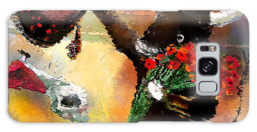 Fun Galaxy S8 Case featuring the painting Toro Bravo by Miki De Goodaboom