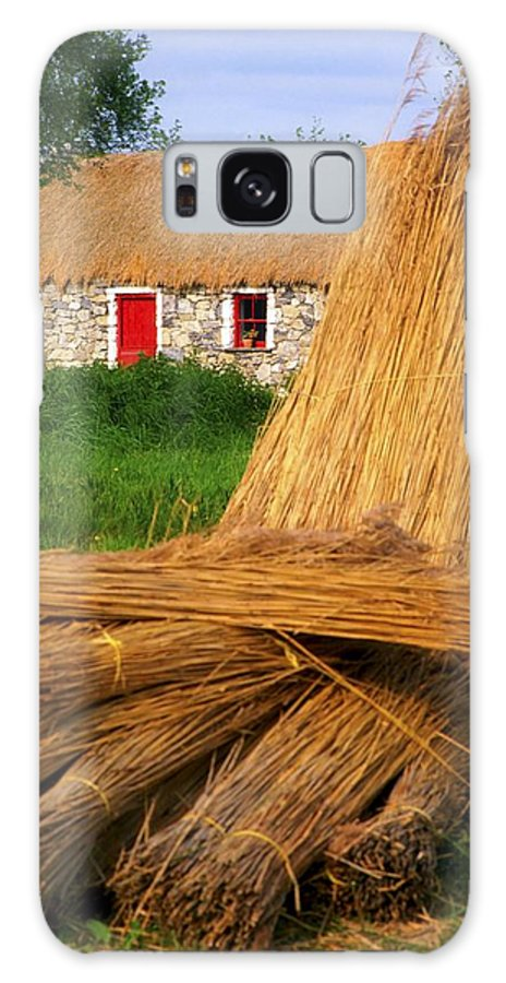Art Galaxy S8 Case featuring the photograph Traditional Thatching, Ireland by The Irish Image Collection
