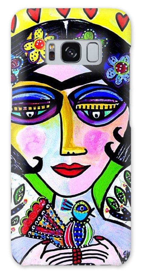 Women Galaxy S8 Case featuring the painting Tree Of Life Nest Goddess by Sandra Silberzweig
