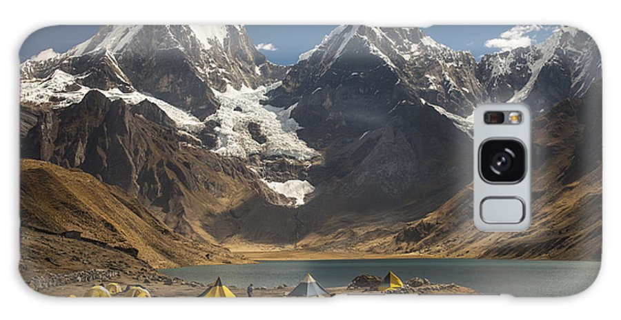 00498203 Galaxy S8 Case featuring the photograph Trekkers Camp Near Carhuacocha Lake by Colin Monteath