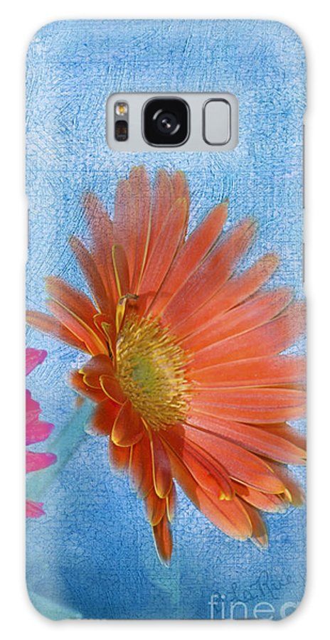 Triptych Galaxy S8 Case featuring the photograph Triptych Gerbera Daisies-three by Betty LaRue
