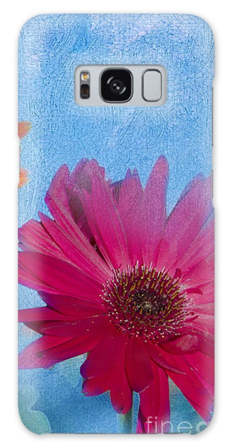 Triptych Galaxy S8 Case featuring the photograph Triptych Gerbera Daisies-two by Betty LaRue