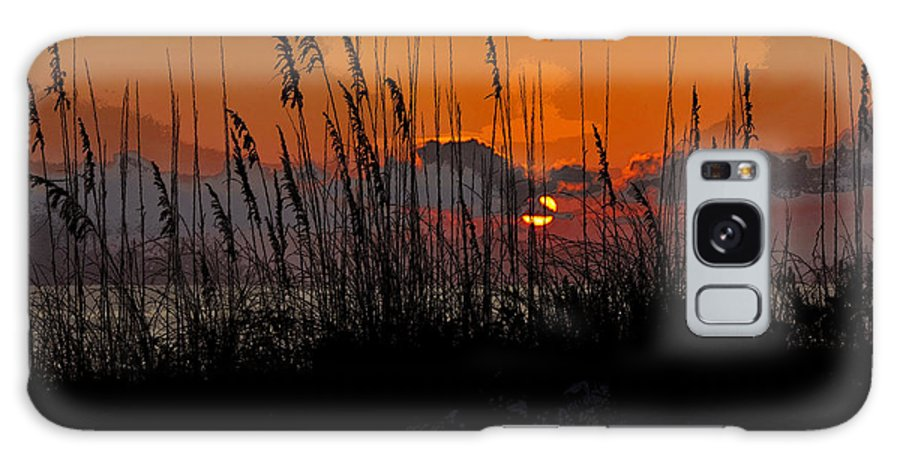 Art Galaxy S8 Case featuring the painting Tropical Evening by David Lee Thompson