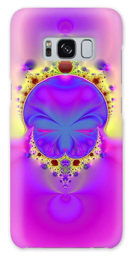 Fractal Galaxy S8 Case featuring the digital art True Face Behind Those Crowns II by Ester Rogers