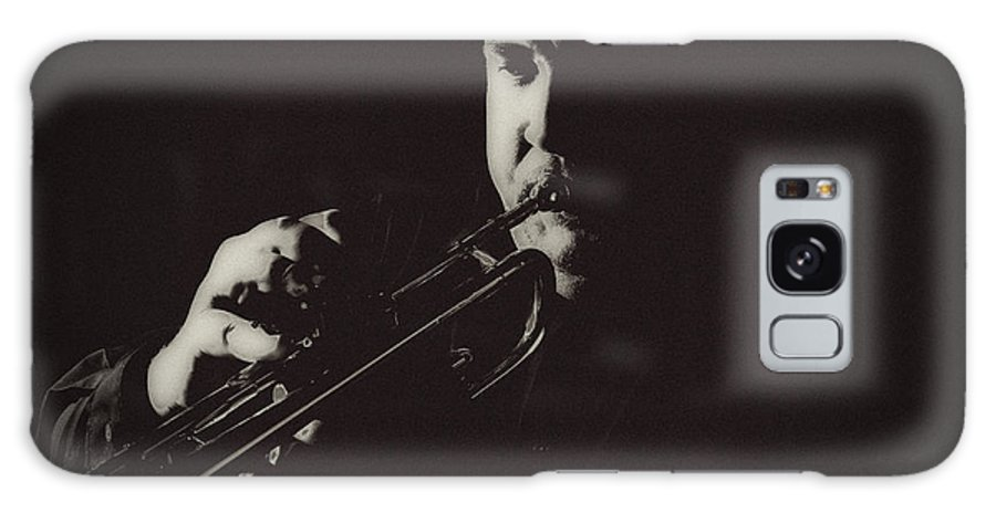 B&w Galaxy S8 Case featuring the photograph Trumpet I by Paul Sisco