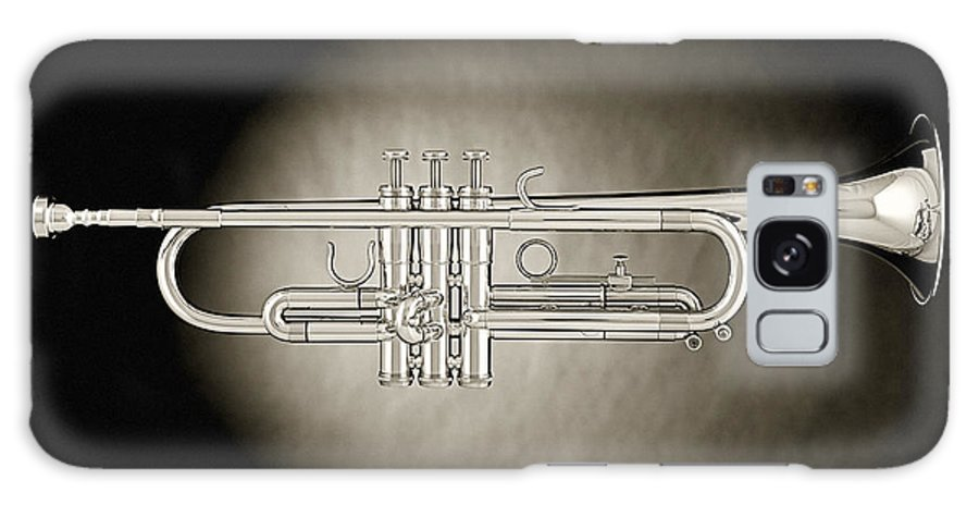 Fine Art Galaxy S8 Case featuring the photograph Trumpet On Spotlight B And W by M K Miller