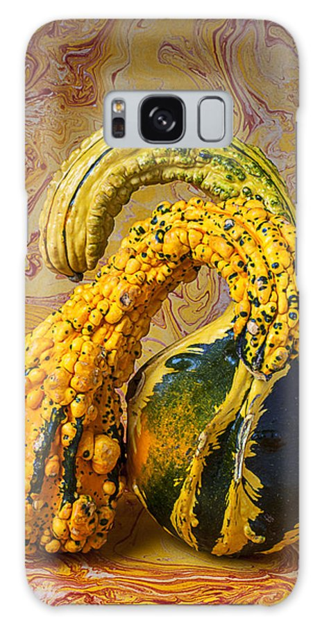 Two Green Galaxy S8 Case featuring the photograph Two Gourds by Garry Gay
