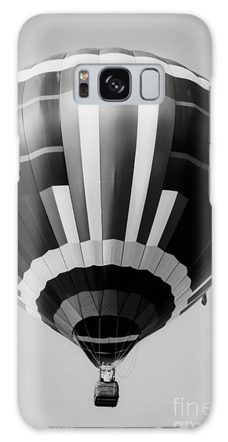 Black And White Hot Air Balloon Galaxy S8 Case featuring the mixed media Two Star Balloon by Kim Henderson