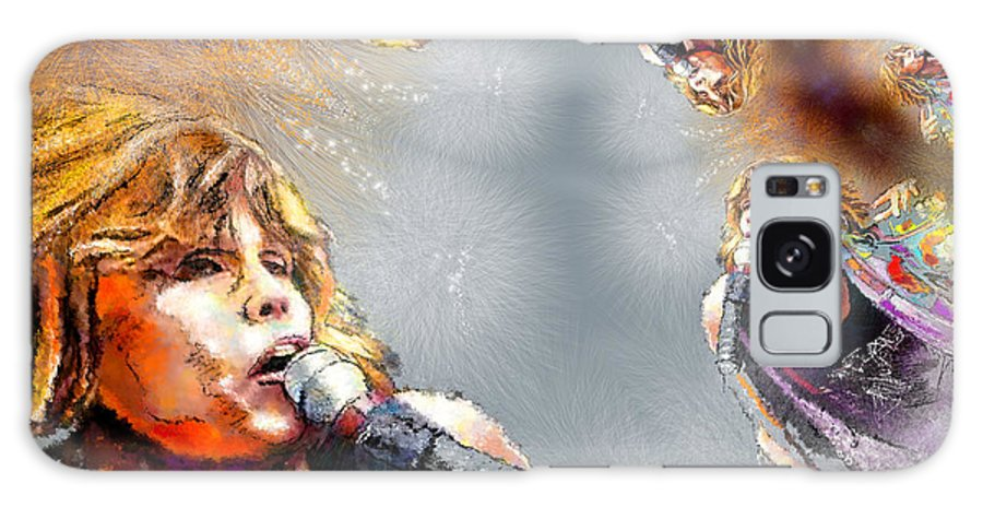 Music Galaxy S8 Case featuring the painting Tyler Mania by Miki De Goodaboom