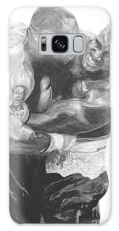 Mike Tyson Galaxy S8 Case featuring the drawing Tyson Vs Holyfield by Tamir Barkan