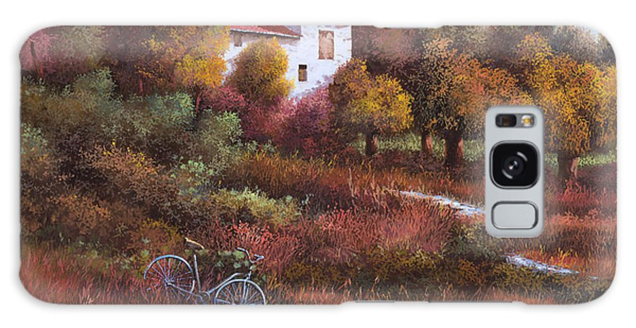 Bike.wood Galaxy Case featuring the painting Una Bicicletta Nel Bosco by Guido Borelli