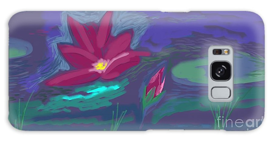Lotus Lily Water Freshness Newness Bloom Floating Peace Restful Cool Galaxy S8 Case featuring the painting Untitled 26 by Vilas Malankar