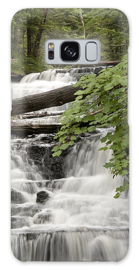 Wagner Falls Galaxy S8 Case featuring the photograph Upper Wagner Falls by Cindy Lindow