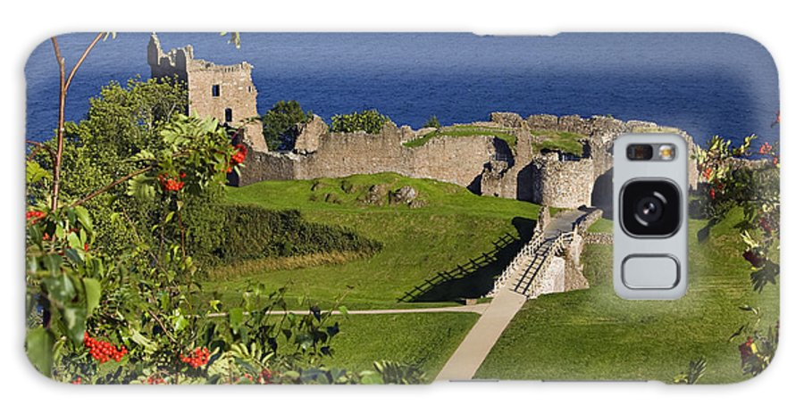 Castle Galaxy S8 Case featuring the photograph Urquhart Castle On Loch Ness by Denise Dempster