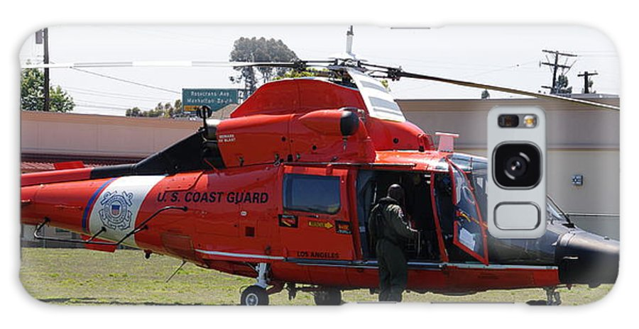 Us Coast Guard Galaxy S8 Case featuring the photograph Us Coast Guard Helicopter by Jeff Lowe