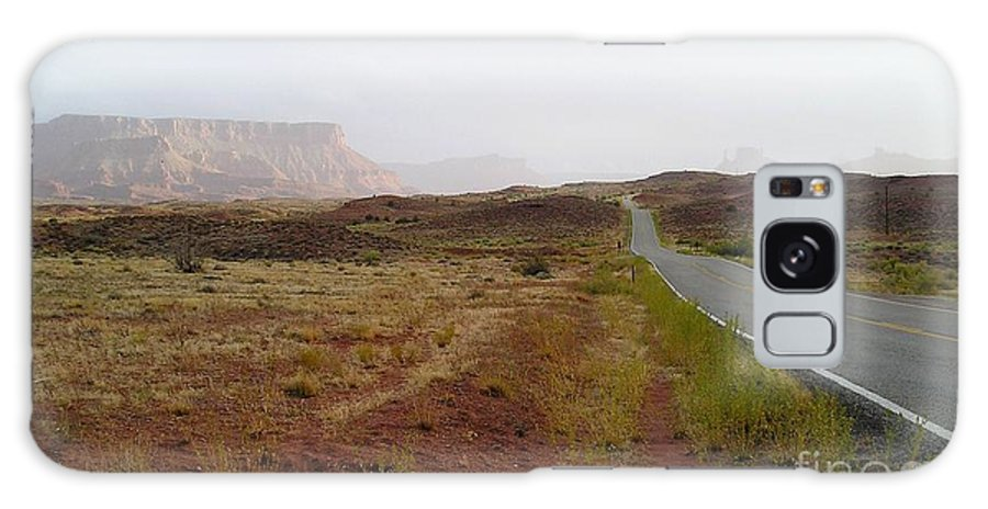 Road Galaxy S8 Case featuring the photograph Utah Canyon Road by Ellen Leigh