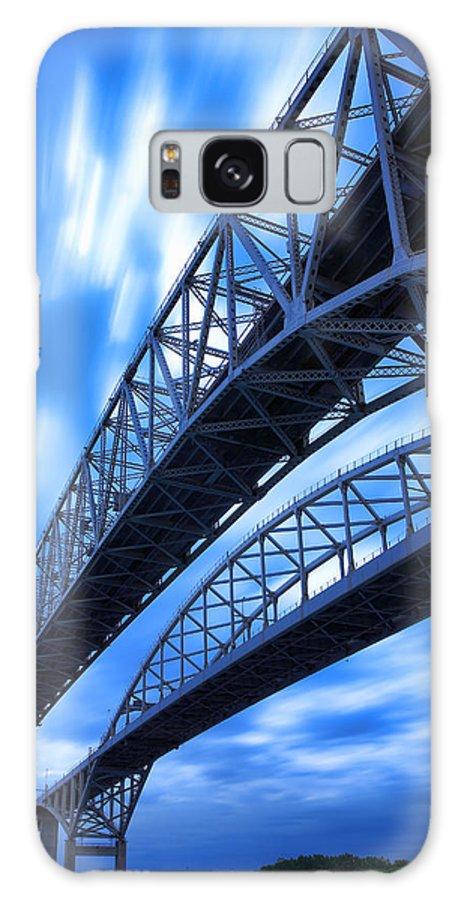 Port Galaxy S8 Case featuring the photograph Very Blue Water Bridge by Gordon Dean II