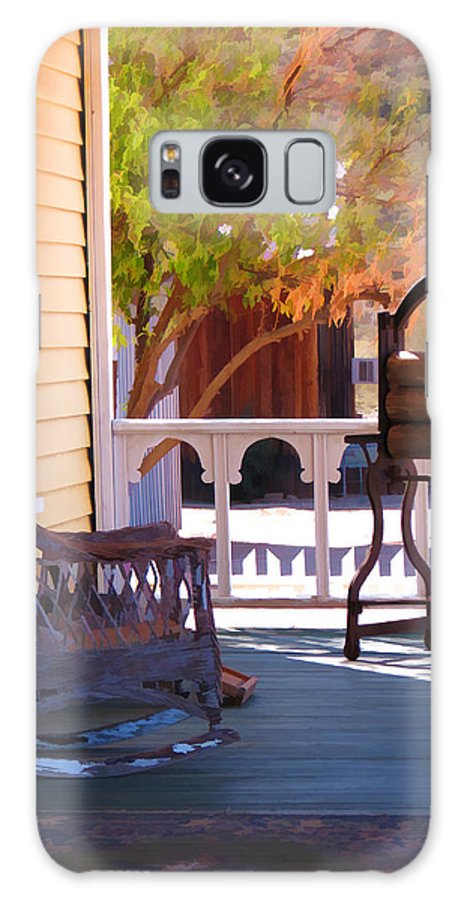 Victorian Galaxy S8 Case featuring the photograph Victorian Porch by Diane Wood
