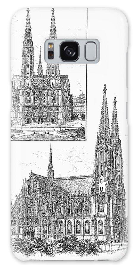 1889 Galaxy S8 Case featuring the photograph Vienna: Votive Church by Granger