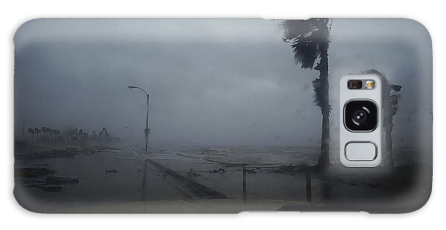 View From A Vehicle Of Hurricane Allen Striking Corpus Christi. Galaxy S8 Case featuring the photograph View From A Vehicle Of Hurricane Allen by Annie Griffiths