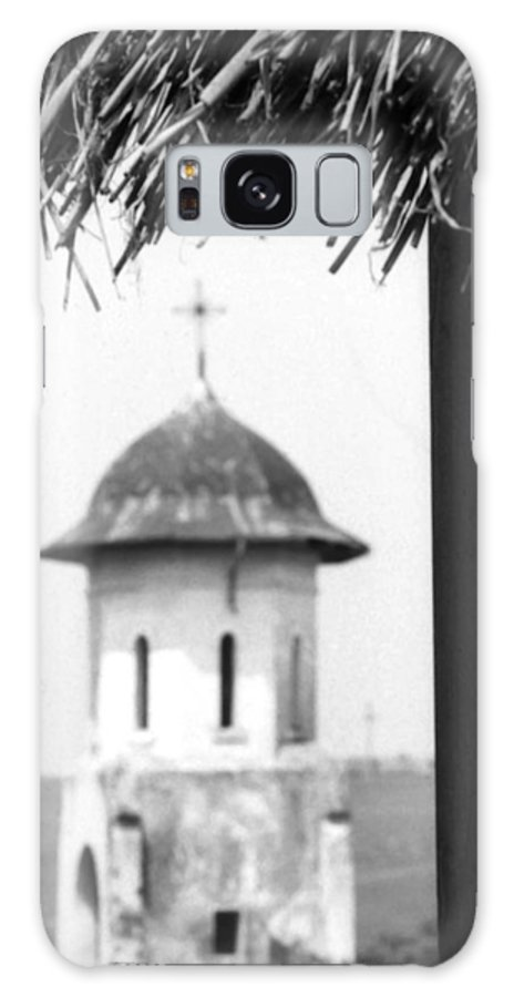 Abbey Galaxy S8 Case featuring the photograph View Of An Old Church Bell Tower by Emanuel Tanjala