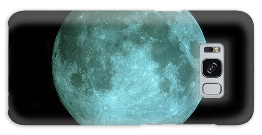 Crater Tycho Galaxy S8 Case featuring the photograph View Of Full Moon by John Sanford