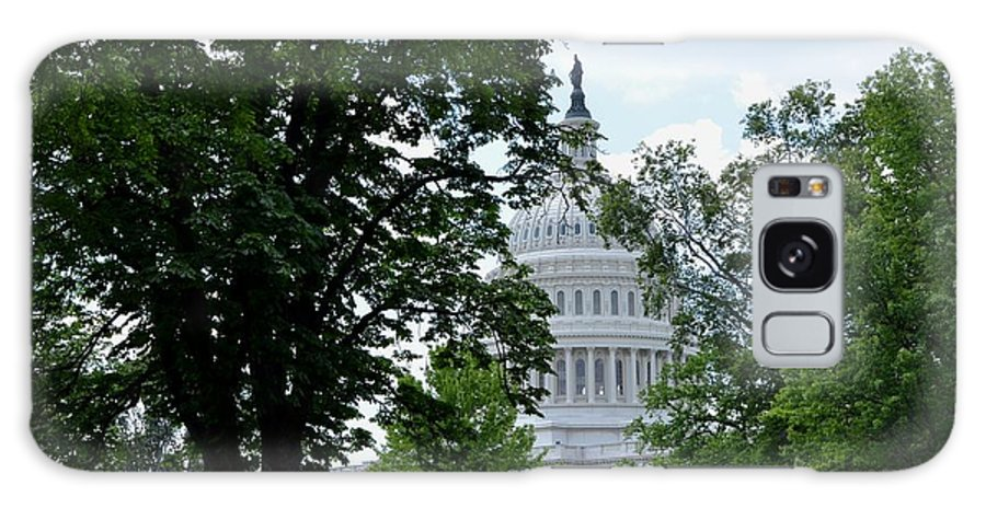Us Capitol Galaxy S8 Case featuring the photograph View Through Trees by Pravine Chester