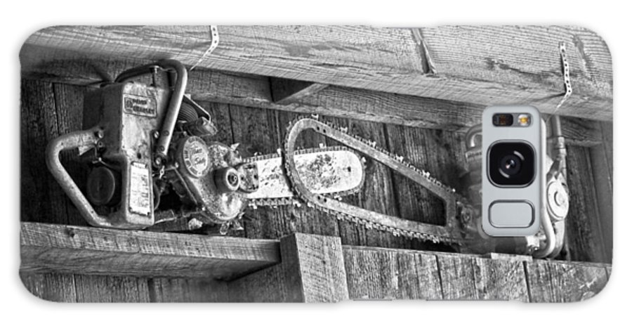 Vintage Saws Galaxy S8 Case featuring the photograph Vintage Chain Saws by Steve McKinzie