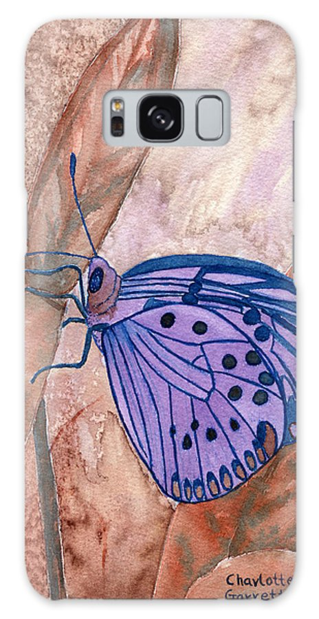 Butterfly Art Galaxy S8 Case featuring the painting Visualization Butterfly by Charlotte Garrett