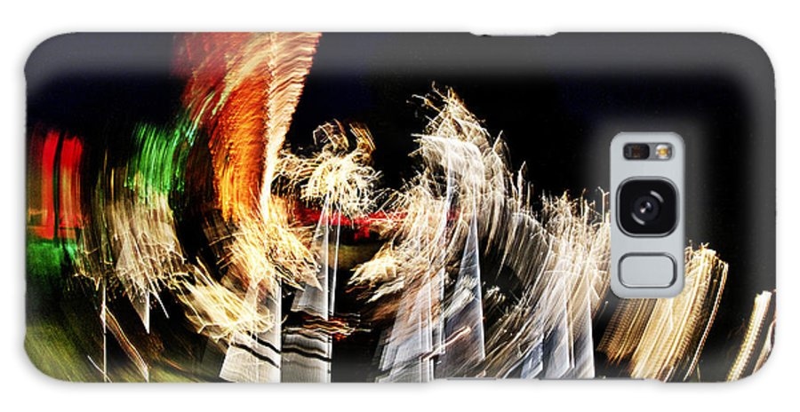 Night Galaxy S8 Case featuring the photograph Vortex Of Light by Heiko Koehrer-Wagner