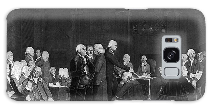 1776 Galaxy S8 Case featuring the photograph Voting Independence, 1776 by Granger