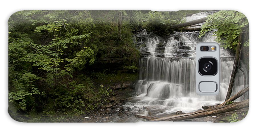 Wagner Falls Galaxy S8 Case featuring the photograph Wagner Falls Forest by Cindy Lindow