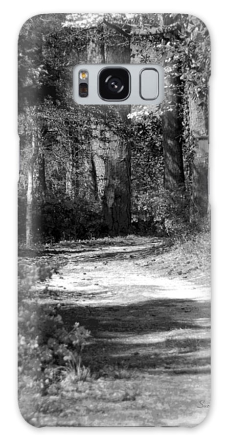 Black And White Galaxy S8 Case featuring the photograph Walking In The Springtime Woods In Black And White by Suzanne Gaff