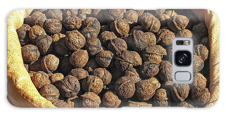 Juglans Sp. Galaxy S8 Case featuring the photograph Walnuts In A Basket by Bjorn Svensson