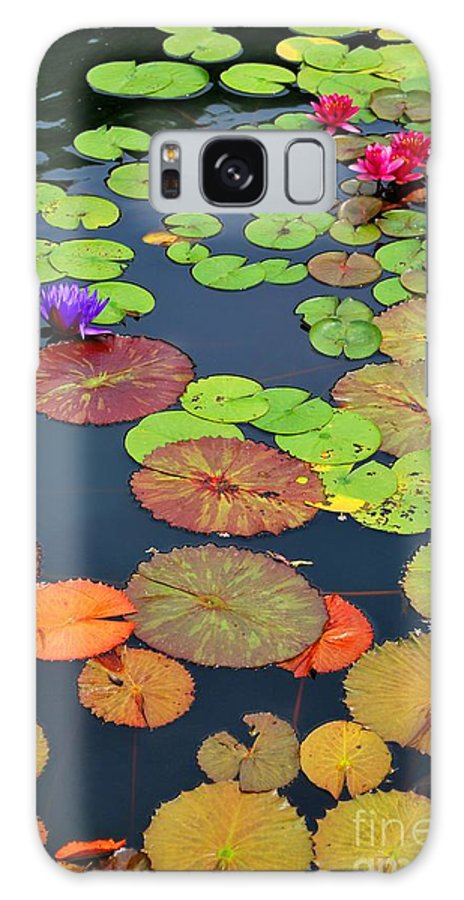 Garden Galaxy S8 Case featuring the photograph Water Lilies I by Nancy Mueller